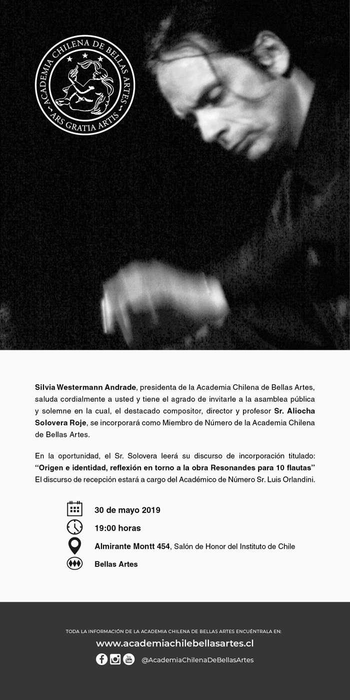 Aliocha Solovera Ingresa a la Academia Chilena de Bellas Artes 2